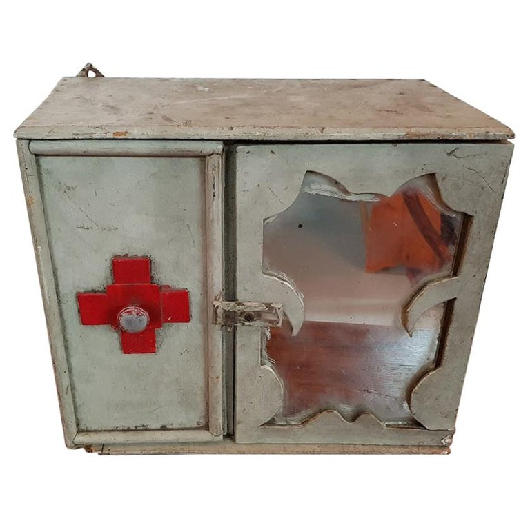 Early 20th Century French Medicine Cabinet