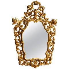 20th Century Golden Wood Spanish Mirror, 1950