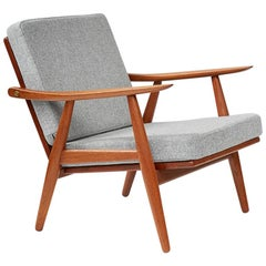 Hans Wegner GE-270 Danish Teak Lounge Chair