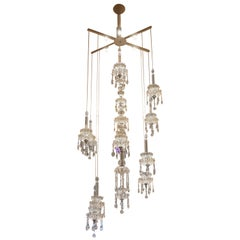 Floating Crystal Chandelier with Swarovski Crystals Almonds & LED Armature