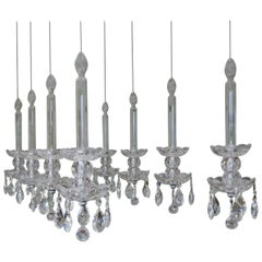 Floating Crystal Chandelier with Swarovski Crystals Almonds and LED