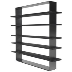 Black Burnt Cedar Bookshelf with Solid Burnt Cedar or Natural Solid Oak