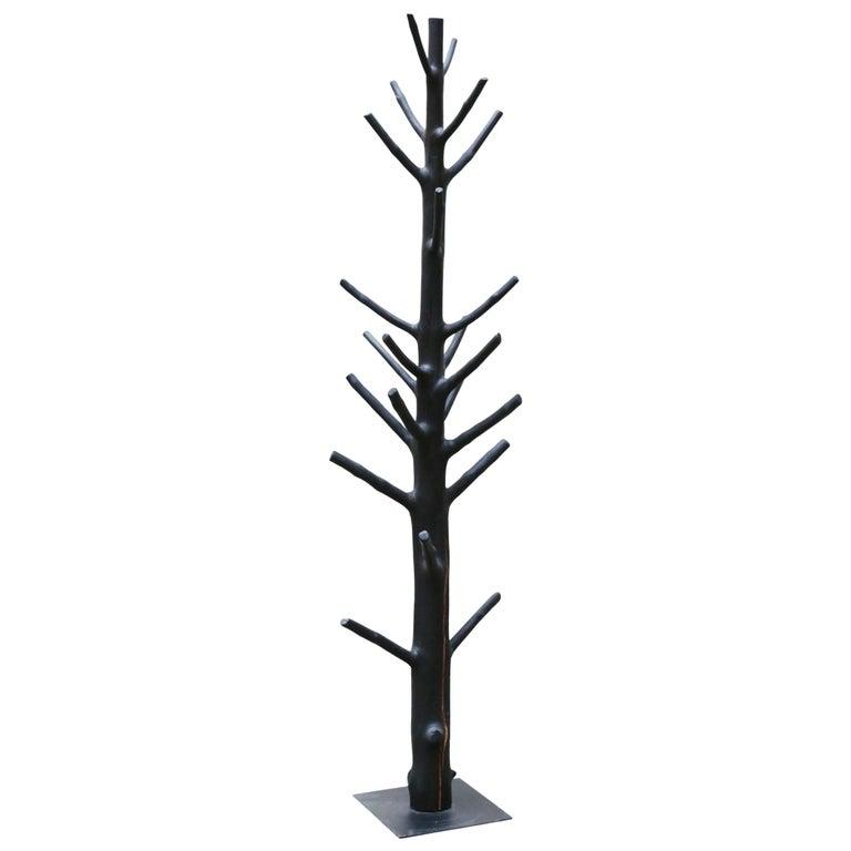 Blackened Lemon Tree Coat Rack