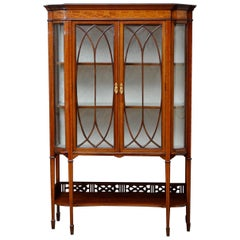 Edwardian Mahogany and Inlaid Display Cabinet