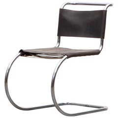 1920s Brown Leather Lounge Chair by Mies van der Rohe