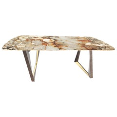 Calypso Dinning Table with Patagonia Granite and LED Lights