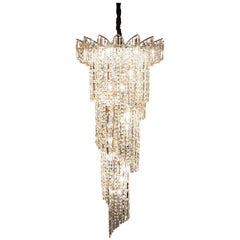 Crystal Spiral Chandelier with Swarovski Crystals