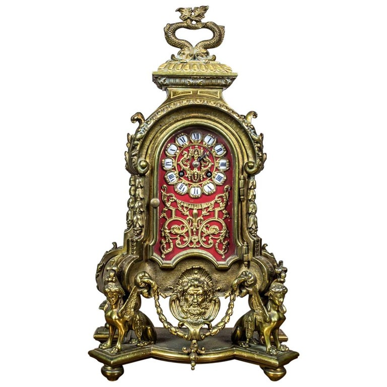 French Mantel Clock, circa 19th Century