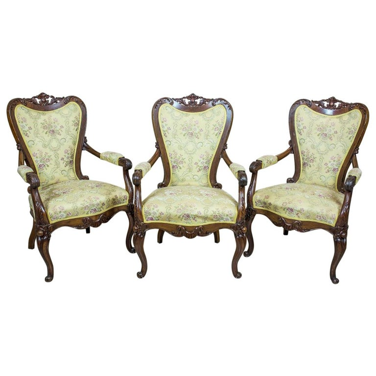 19th Century Neo-Rococo Upholstered Armchairs
