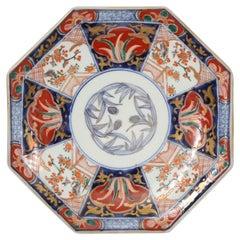 Octagonal Imari Plate Meiji Period