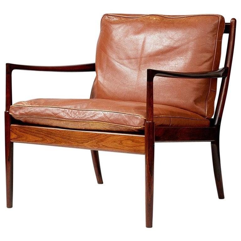 Ib Kofod-Larsen Rosewood Samso Chair, circa 1960