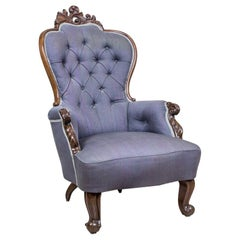 Neo-Rococo Walnut Armchair, circa 1860