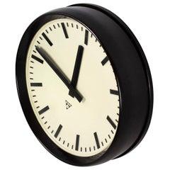 Large Bakelite Railway Clock by Pragotron, 1950s