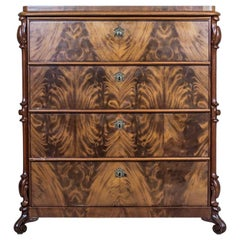 19th-Century Louis Philippe Dresser/Chiffonier Veneered with Mahogany