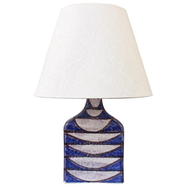 Ceramic Italian Mid-Century Modern Table Lamp by Alessio Tasca, circa 1950s