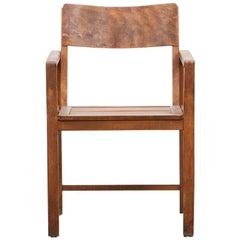 Very Rare 1920s Brown Beech Chair by Erich Dieckmann