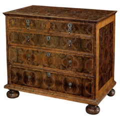William & Mary Olivewood Chest of Drawers