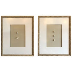 Pair of  Elegant Grand Tour Intaglios in Custom Frames