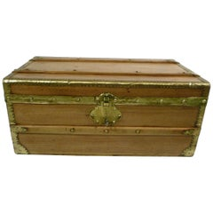 Camphor Wood Trunk from the Navy with Key, 1920s