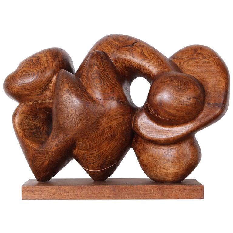 Wooden Abstract Sculpture by Robert Winslow