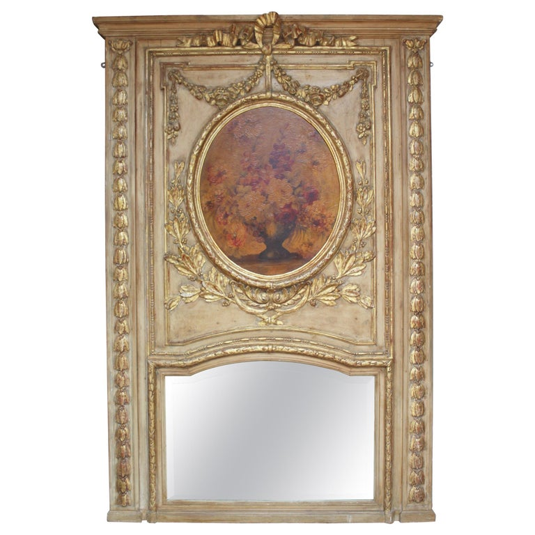 French 19th Century Trumeau Mirror For Sale