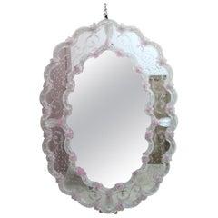 Wall Mirror in Murano Glass, Italian Style, 1960s