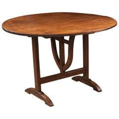 French 19th Century Pine and Walnut Wine Tasters Table