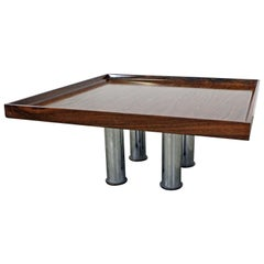 Mid-Century Modern Knoll Rosewood Chrome Coffee or End Table