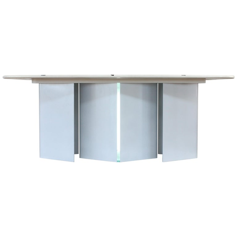 Gemstone Terrazzo Toped Dinning Table
