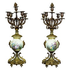 Two Four-Arm Candelabra from the Second Half of the 19th Century