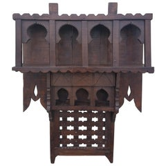 Moroccan Reclaimed Wood Wall Shelf, Ben 2