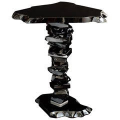Contemporary 'Black Caramel' Glass Side Table by Danny Lane