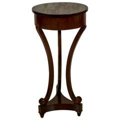 Biedermeier Round Mahogany Flowerbed or Table, circa 1860