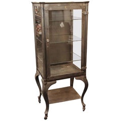 1910 Stripped and Lacquered Medical Cabinet with Cabriole Legs