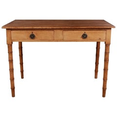 English Faux Bamboo Table