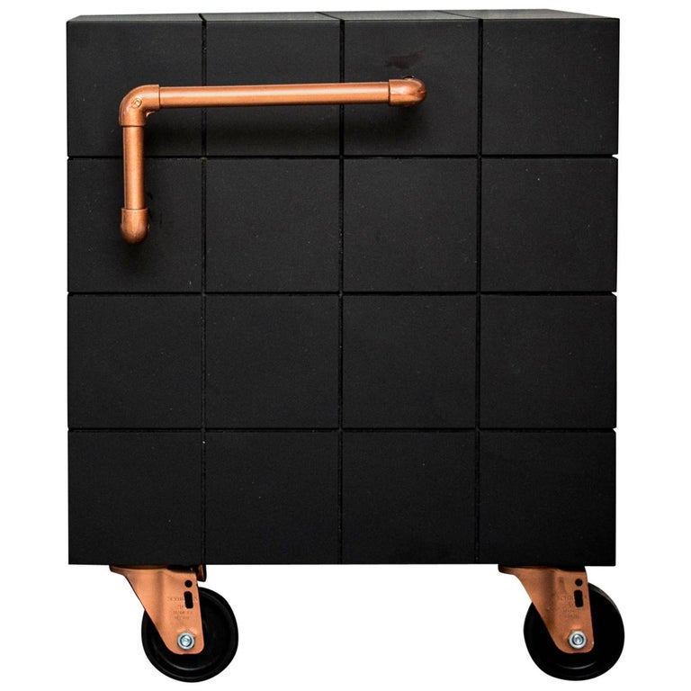 Black Cube, Side Table or Bench