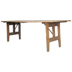 Antique Folding Farm Banquet Table