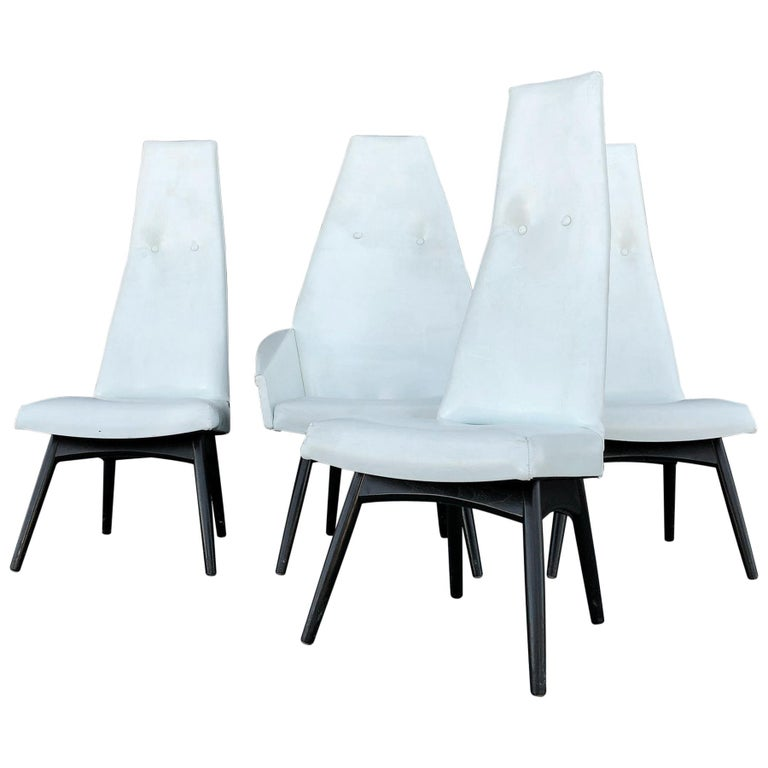 Adrian Pearsall High Back Dining Chairs Set of 4