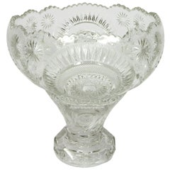 Early 20th Century Pressed Glass Punch Bowl