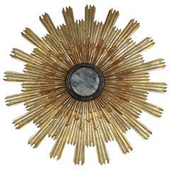Huge 18th Century Italian Sunburst Mirror