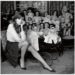 Terry O' Neill Photograph of Jean Shrimpton in Black and White, 1964