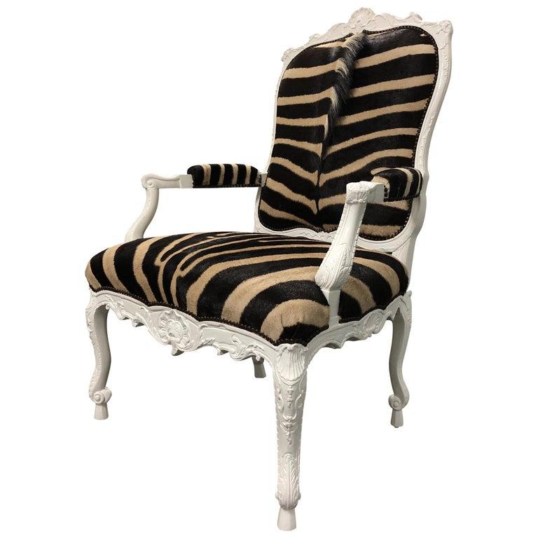 Ebanista Jesi South African Hide Armchair For Sale