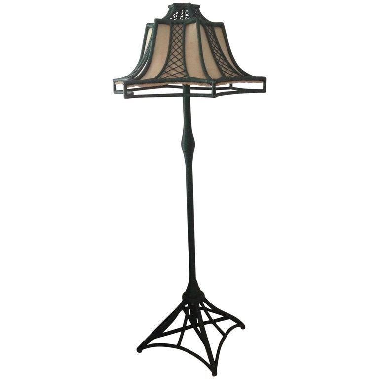 Brighton Inspired Wicker Floor Lamp For Sale
