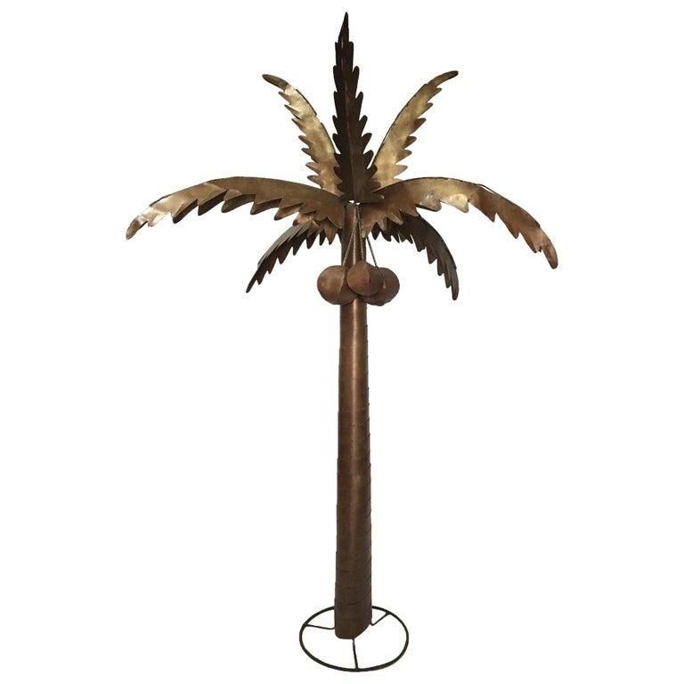 Monumental Metal Palm Tree Sculpture