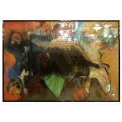Mid-Century Modern Style Oil Painting