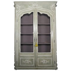 Monumental French Louis XV Style Painted Cabinet, circa 1940