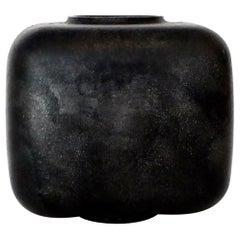 Lorenzo Burchiellaro Blackened Patina Sand Cast Aluminum Vase