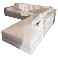 New Atelier Gary Lee Chai Ming Studios White Leather Sectional