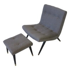 Milo Styled Scoop Lounge Chair and Ottoman