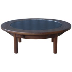 Mahogany Coffee Table with Slate Top